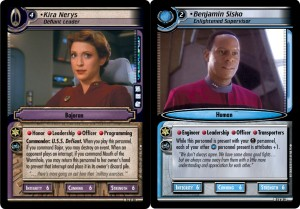 "2E fixes the problem with the ""DS9"" icons to the left of the text box; since both characters have the icon, they can easily be played in the same deck even though they work for different in-universe governments."